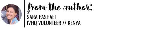 Sara Pashaei Tells You What To Expect When Volunteering In Kenya