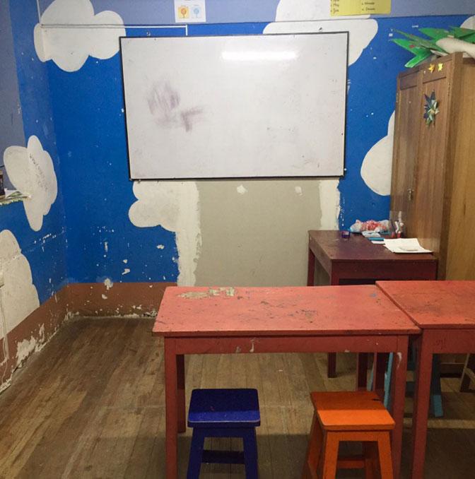 IVHQ volunteer classroom in Cusco, Peru