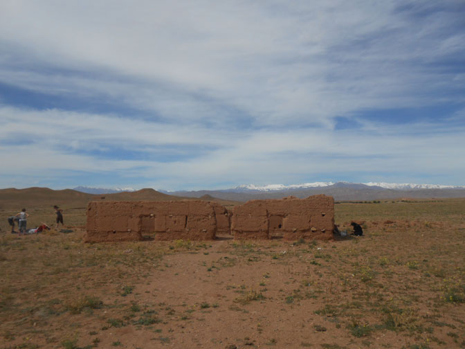 Visiting ruins in Morocco