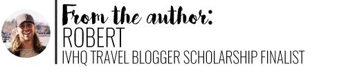 Author, Robert IVHQ Travel Blogger Scholarship